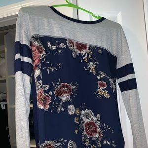 Floral Long Sleeved T